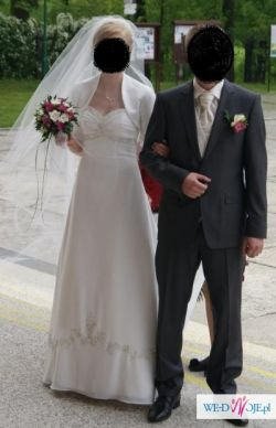 Elegancka, klasyczna suknia ślubna marki Herm's