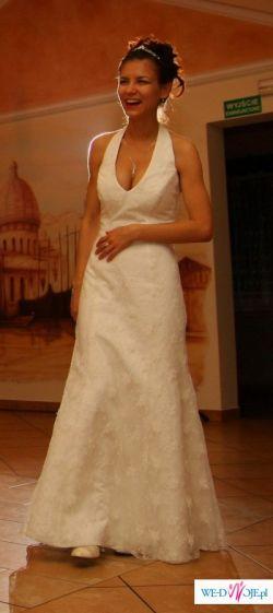 Elegancka, koronkowa suknia 34/36