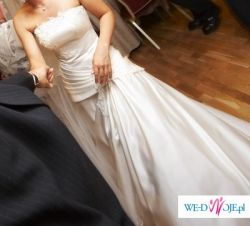 Elegancka Śmietankowa suknia