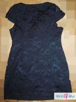 Elegancka sukienka Baby Doll z kokardką r 40/ 42