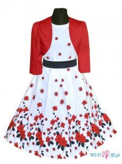 Elegancka sukienka dziewczęca Gabi z bolerkiem