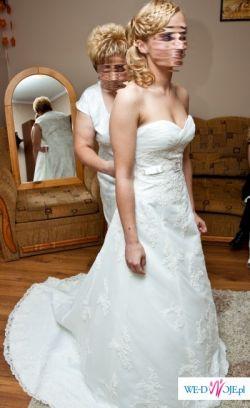 Elegancka suknia firmy Herm's, kolor ivory