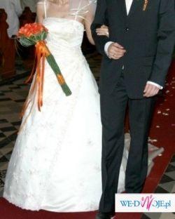 Elegancka suknia sincerity 3079, kolor ecru