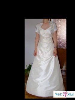 elegancka suknia ślubna Agnes plus dodatki