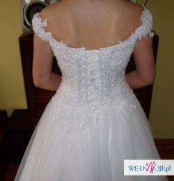 Elegancka suknia ślubna r.38
