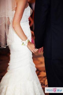 Elegancka suknia ślubna Vanilla Sposa, swarovski!
