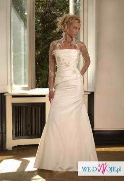 elegancka suknia ślubna z kolekcji Biancaneve 2007, model 405.