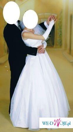 elegancka suknia ślubna za niewielkie pieniądze:)