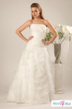 Elegancka suknia z falbankami