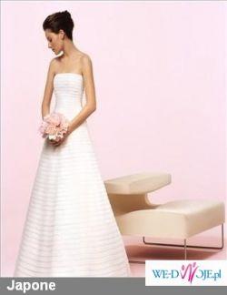 elegancka suknia z organzy w kolorze białym, Cymbeline, model Japon
