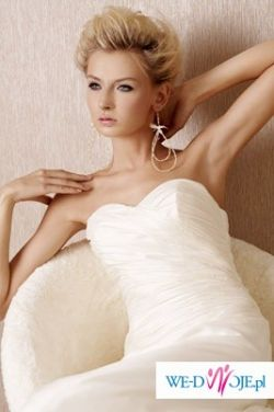 Elegancka suknia z trenem