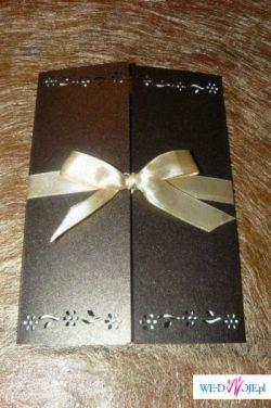 Eleganckie zaproszenia ślubne ręcznie robione, zaproszenie ślub