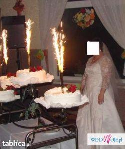 Fajna Duża Suknia Ślubna