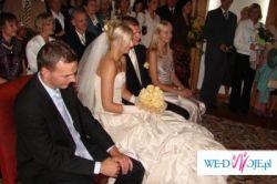 Fantastycznie piękna suknia ślubna, ecrue, 38-40