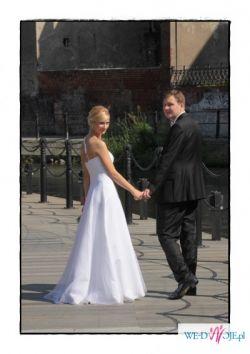 Fantazyjna suknia ślubna rozm. 36