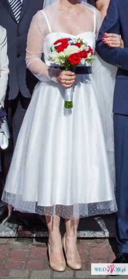 FEMINI Suknia w stylu lat 50 (tiulowe bolerko gratis)
