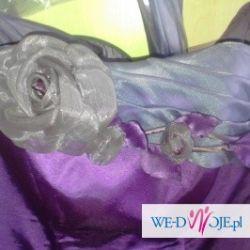 Fioletowa suknia balowa