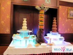 Fontanna czekoladowa na wesele z obsługą wynajem świętokrzyskie Kielce