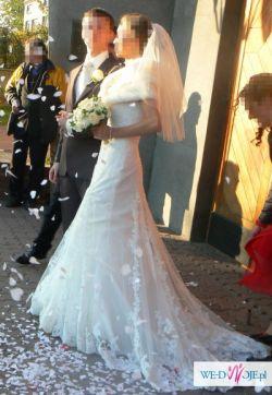 Francuska koronkowa suknia ślubna 36/38