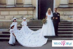 Francuska. śliczna i niepowtarzalna suknia - najtaniej!