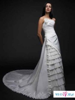 Francuska suknia ślubna CYMBELINE, HANAN model  2008, r.38 + bolerko