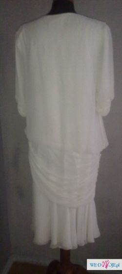 frank Usher sukienka w kolorze śmietanowym 12 UK
