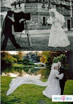 Frncuska suknia ślubna