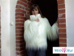 Futro do sukni ślubnej - znanego projektanta mody