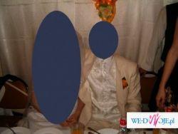 Garnitur ślubny- kremowy ze stójką na wzrost 178cm