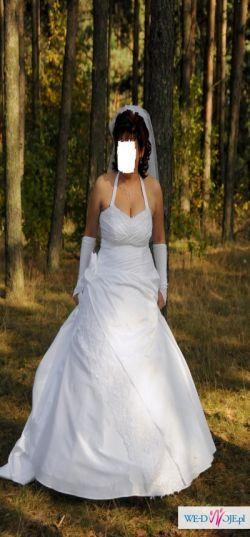 GORĄCO POLECAM prześliczna śnieżno- białą suknie ślubną
