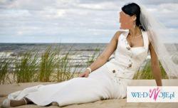 Gorsetowa suknia ślubna AGNES ecry roz 36-38