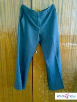 Granatowe spodnie z materiału