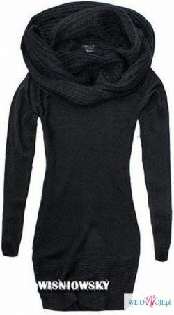 H&M - czarny sweter golf, rozmiar M, NOWY!