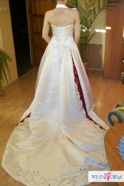 Haute Couture Maggie Sottero ekskluzywna włoska suknia na 153 cm+7 cm obcas