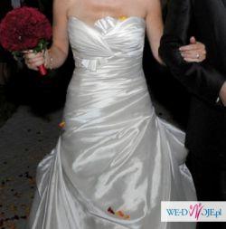 Hiszpańska suknia ślubna model 2010 La Sposa Fresa 36/38 biała perłowa
