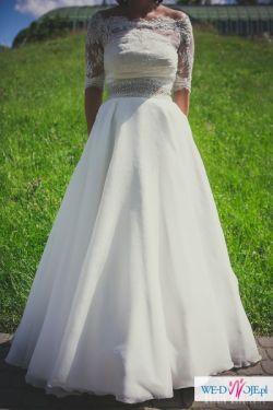 Hit sezonu!!!!!Suknia śluna z koronkowym bolerkiem firmy Maggio Ramatti