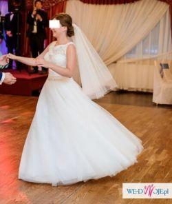 IDEALNA_CZYSZCZONA_Bajkowa suknia DIANE LEGRAND (model 13604)-r. 38 + GRATISY
