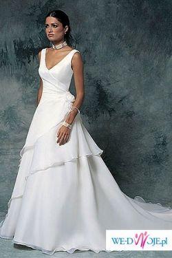 jednoczęściowa biała sukienka w dobrej cenie!