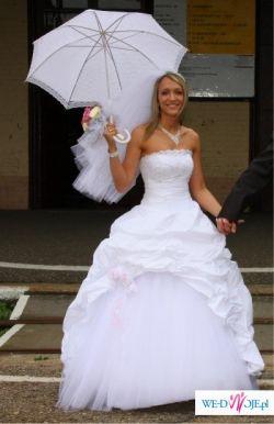 jednoczesciowa, piekna suknia slubna