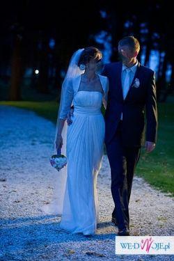 Jedwabna suknia ślubna: model SYRIA z kolekcji 2011 + dodatki gratis