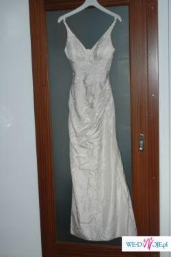 Jedwabna suknia ślubna, wieczorowa