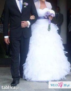 Jedyna taka..suknia ślubna 36/38 + gratisy!