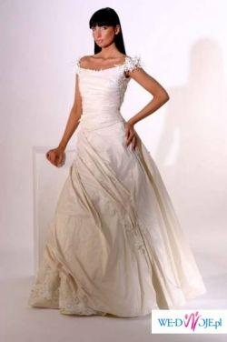 Julia Rosa, rozm. 36, jasny szampan + welon