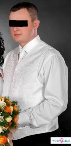 Kamizeka ślubna z musznikiem i wypustką