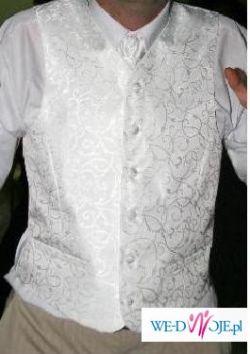 kamizelka biała ozdobna