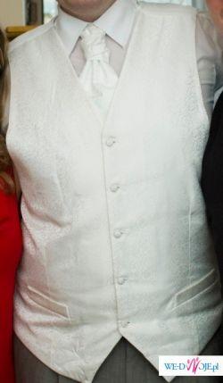 Kamizelka ślubna, biała, duży rozmiar - 60