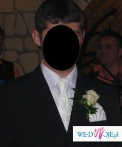 Kamizelka ślubna żakardowa + fular + butonierka