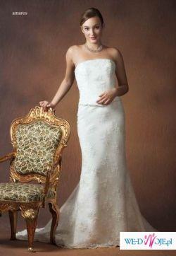 Klasyczna elegancja AMAROS suknia z klasą-OKAZJA TANIO 70%