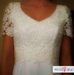 Klasyczna,skromna suknia ślubna niemieckiej firmy lohrengel cassel.