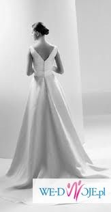 klasyczna suknia Manuel Mota, Canadara-elegancja i prostota!